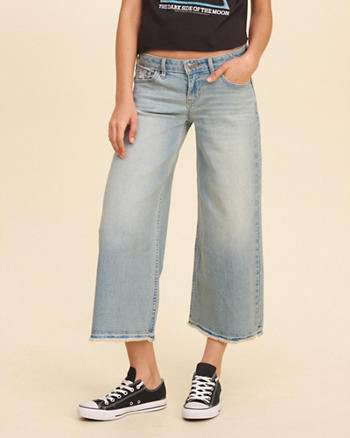 Low-Rise Denim Culottes