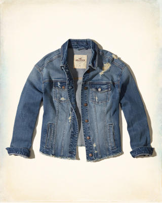Boyfriend Ripped Denim Jacket