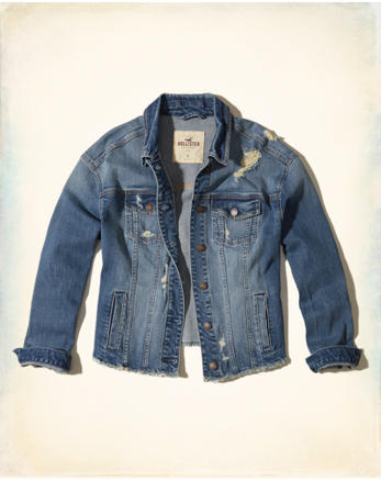 hol Boyfriend Ripped Denim Jacket