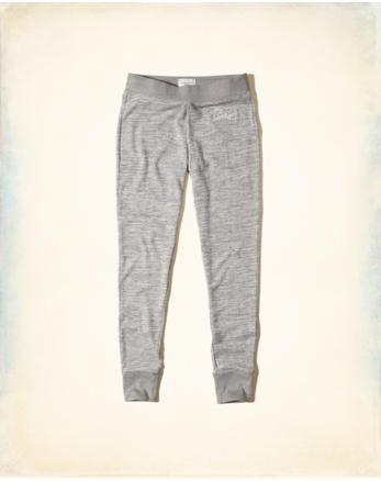 hol Textured Logo Graphic Fleece Leggings