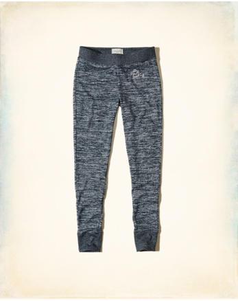 hol Textured Logo Graphic Fleece Leggings