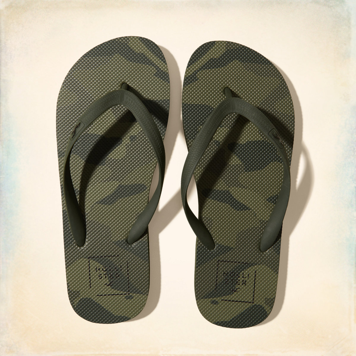 Graphic Rubber Flip Flops