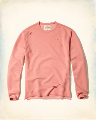 Distressed Crew Sweatshirt