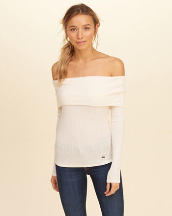 Must-Have Off-The-Shoulder Waffle Top