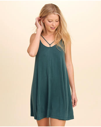 hol Strappy Sueded Knit Swing Dress