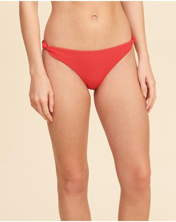 hol Ribbed Side-Knot Bikini Bottom