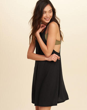Open Back Dress Swim Cover-Up