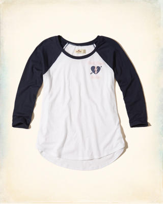 Colorblock Raglan Graphic Tee