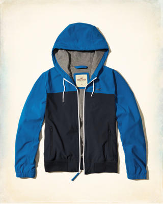 Jersey Lined Stretch Nylon Windbreaker