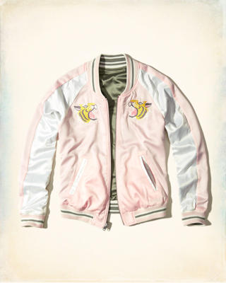 Reversible Satin Souvenir Bomber Jacket