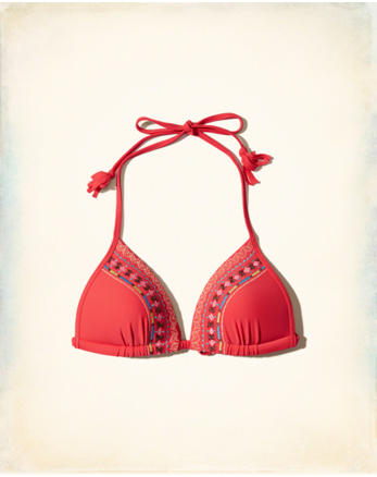 hol Push-Up Triangle Bikini Top