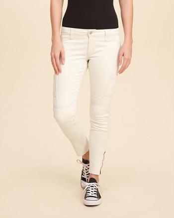 Hollister Low-Rise Super Skinny Crop Pants