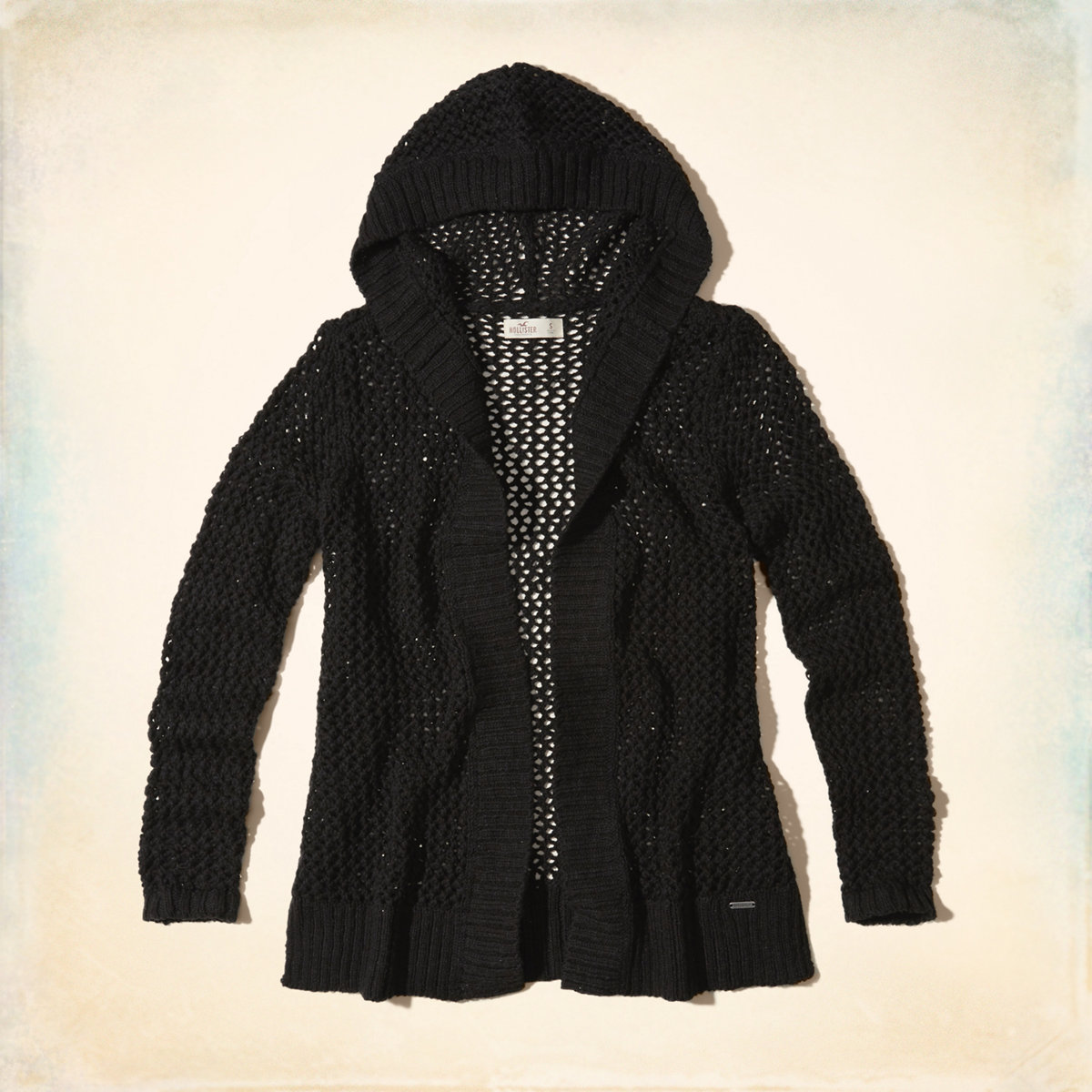 Non-Closure Hooded Cardigan