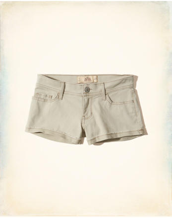hol Low-Rise Twill Short-Shorts