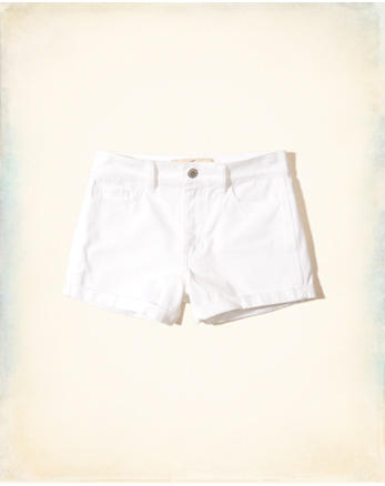 hol High-Rise Twill Short-Shorts