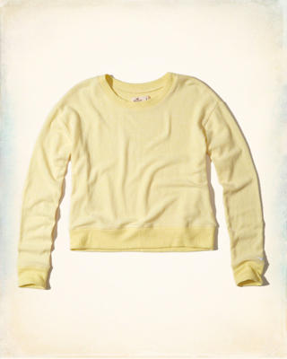 Cropped Crew Sweatshirt