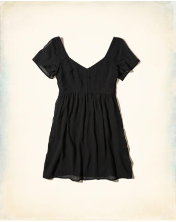 hol Chiffon Babydoll Dress
