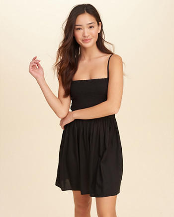 Smocked Cami Skater Dress