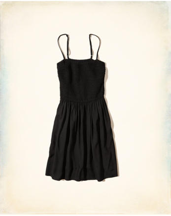 hol Smocked Cami Skater Dress