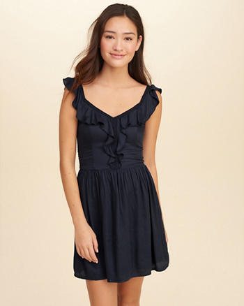 Ruffle Skater Dress