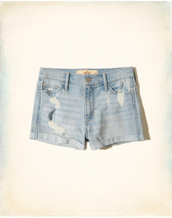 hol High-Rise Denim Short-Shorts