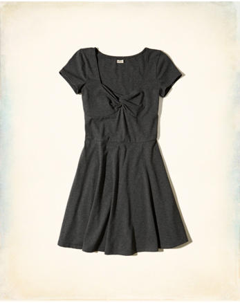 hol Twist-Front Skater Dress
