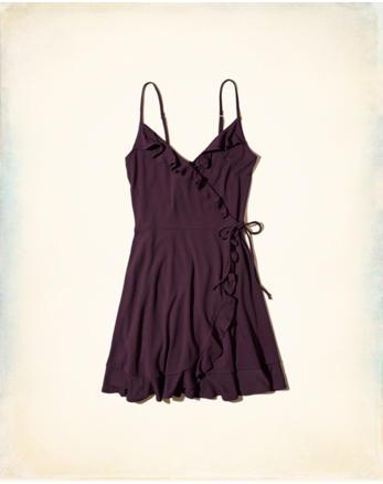 hol Ruffle Wrap-Front Knit Dress