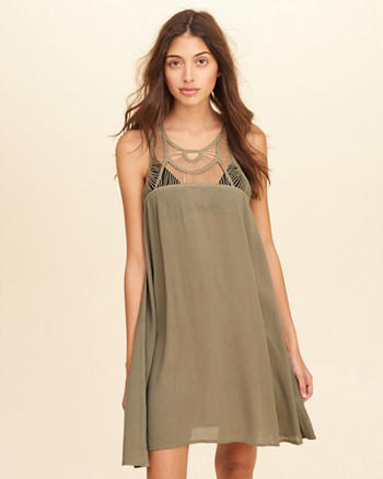 Macramé Swimwear Cover-Up Dress