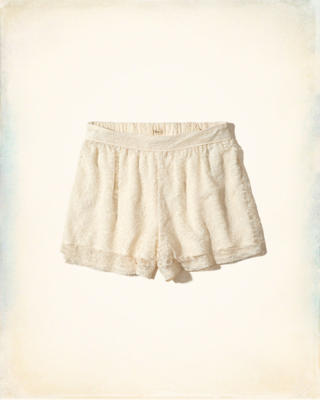 Lace High-Rise Culotte Shorts