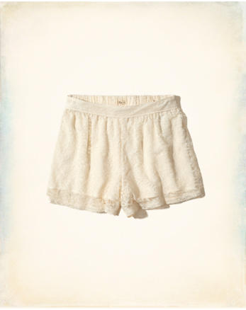 hol Lace High-Rise Culotte Shorts