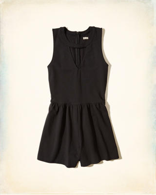 Cutout Knit Romper
