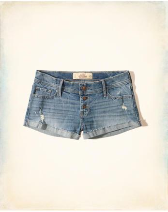 hol Ultra Low-Rise Denim Boyfriend Shorts