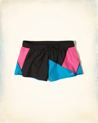 Neon Colorblock Running Short