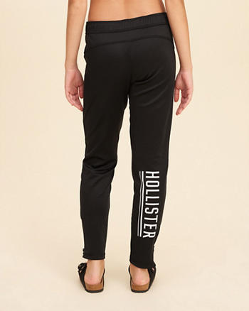Hollister Logo Graphic Side-Zip Joggers