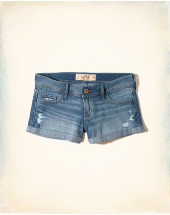 hol Low-Rise Denim Short-Shorts