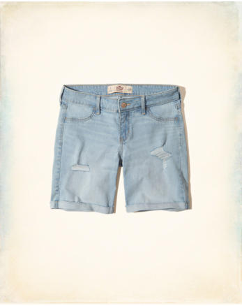 hol Low-Rise Denim Boyshorts