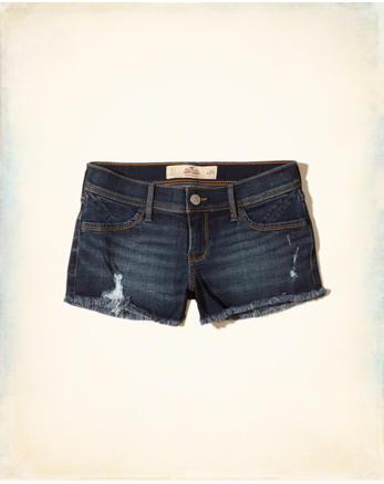 hol Low-Rise Denim Short-Shorts