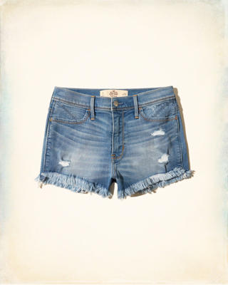 High-Rise Denim Short-Shorts