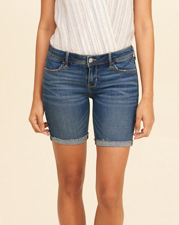 Low-Rise Denim Boyshorts