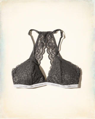 Lace Racerback Triangle Bralette With Removable Pads