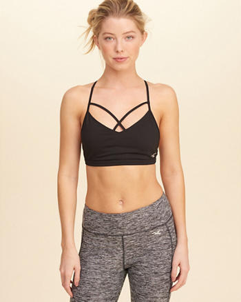Strappy T-Back Sports Bra