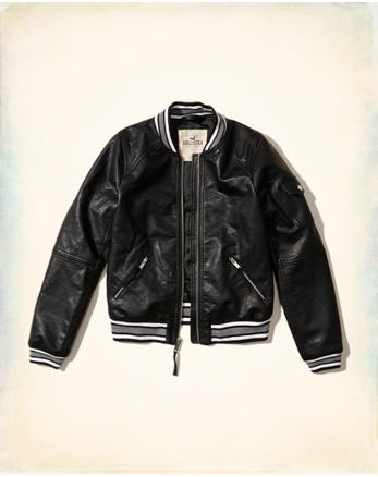 hol Vegan Leather Bomber Jacket
