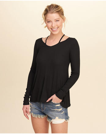 hol Must-Have Strappy Swing T-Shirt