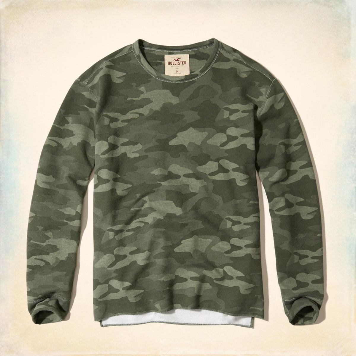 Camo Crew Sweatshirt