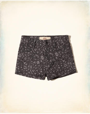 hol High-Rise Sateen Short-Shorts