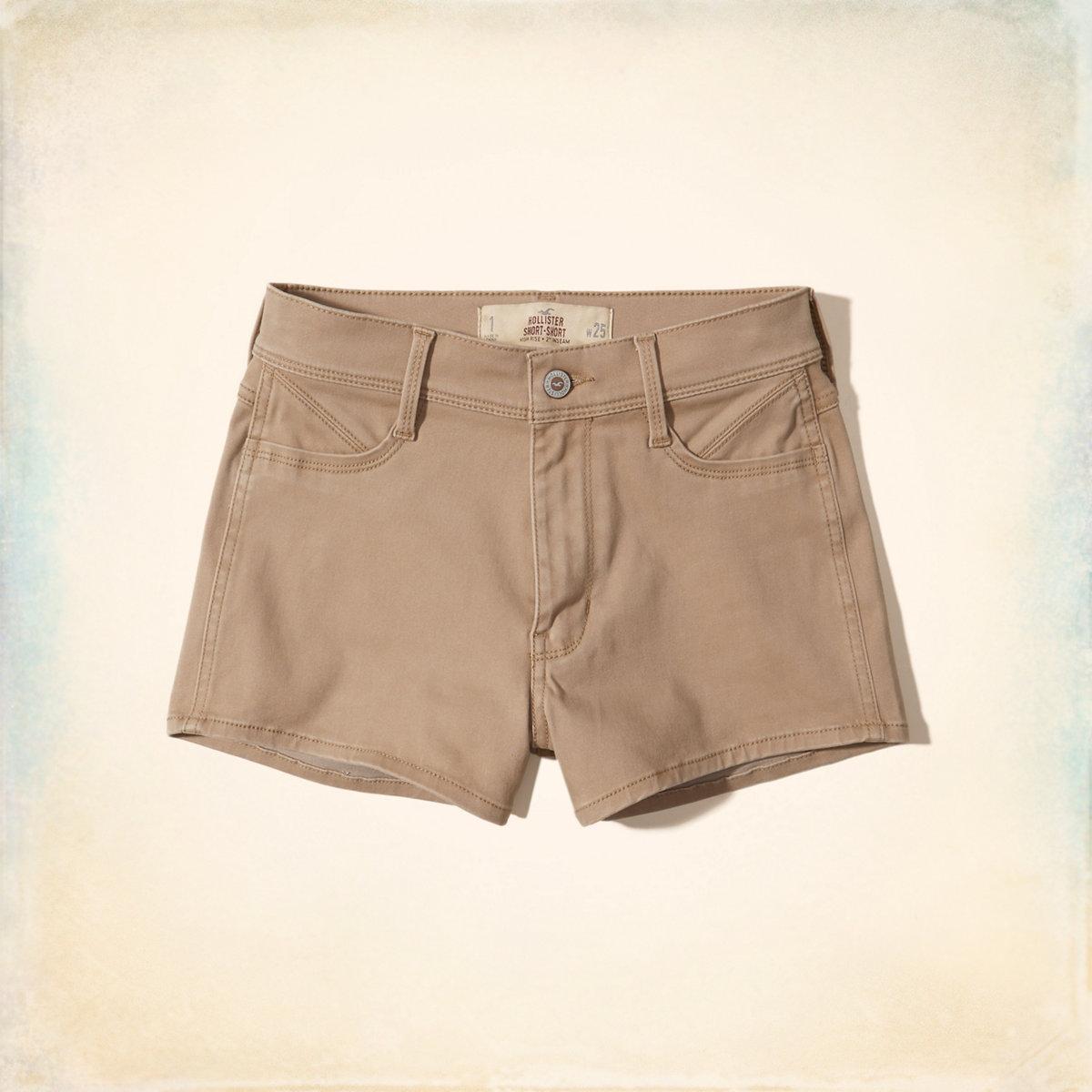 High-Rise Sateen Short-Shorts