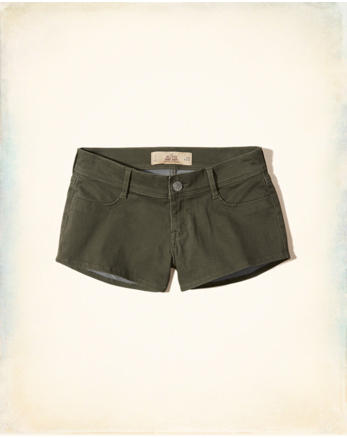 hol Low-Rise Sateen Short-Shorts