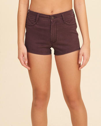High-Rise Sateen Short-Shorts