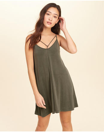 hol Must-Have Strappy Swing Dress