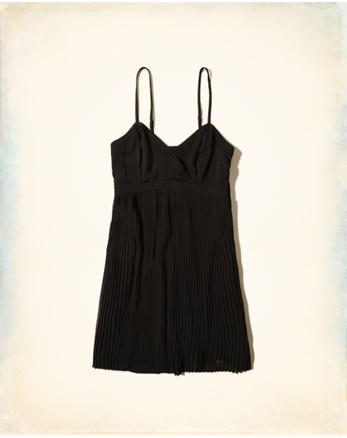 hol Pleated Babydoll Dress